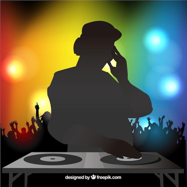 Disco dj vector gratuito