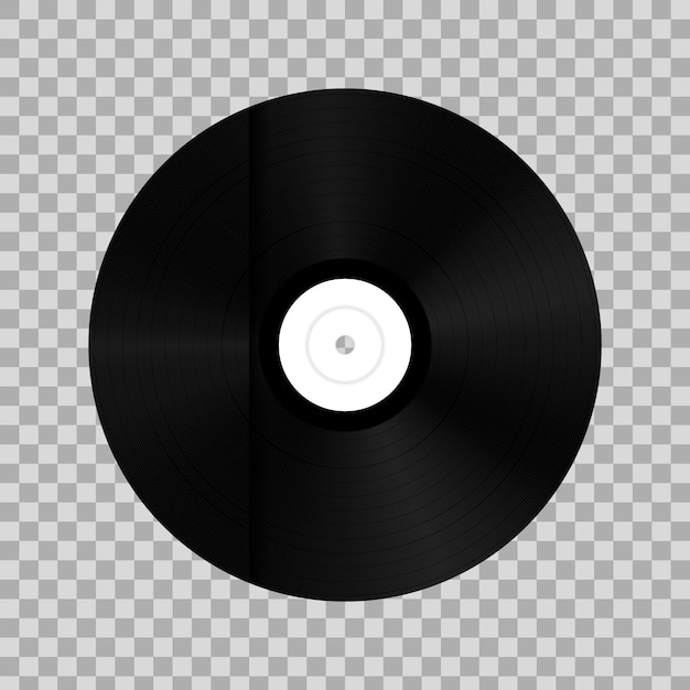Disco de vinilo en caja de papel. Vector Premium