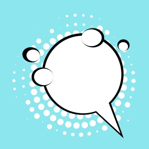 Discurso de burbujas cómicas con sombras de semitono. Vector Premium