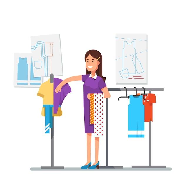 Dise ador de ropa de moda que trabaja en el proyecto de for Disenador de cocinas online gratis