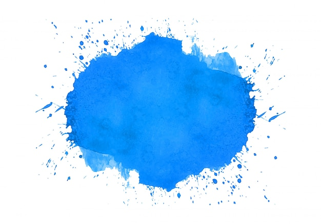 Diseño abstracto acuarela splash azul vector gratuito