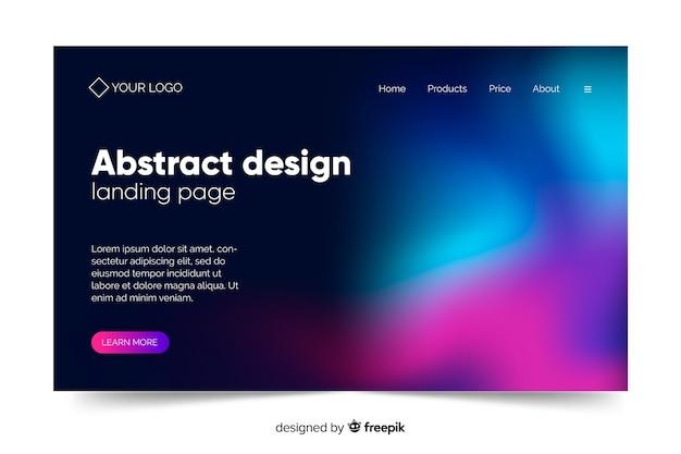 Diseño abstracto de la página de inicio de la aurora boreal vector gratuito