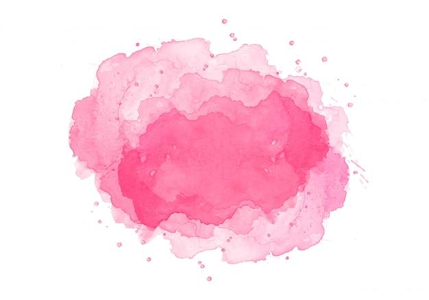 Diseño acuarela abstracta rosa splash vector gratuito
