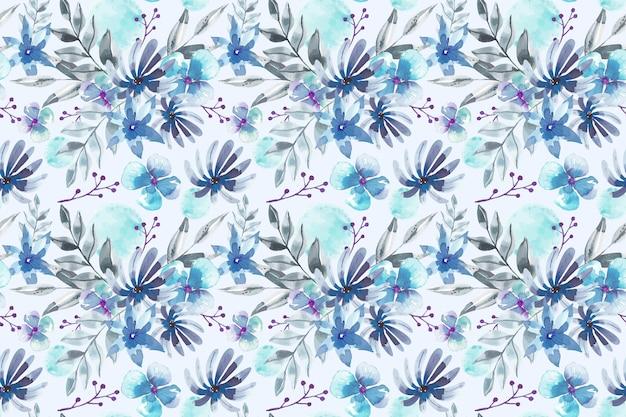 Diseño de acuarela de patrón floral Vector Premium