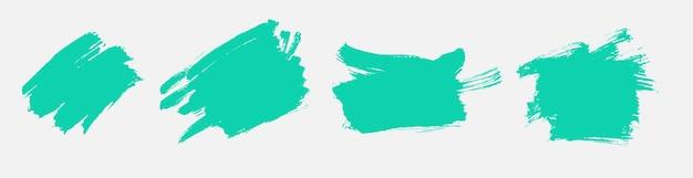Diseño de acuarela de textura turquesa grunge vector gratuito