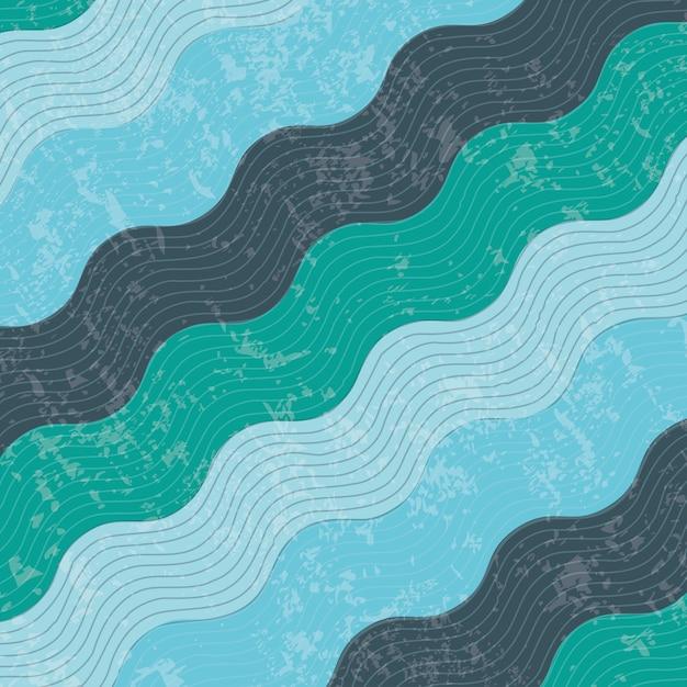 Diseño de agua sobre ilustración de vector de fondo de patrón Vector Premium