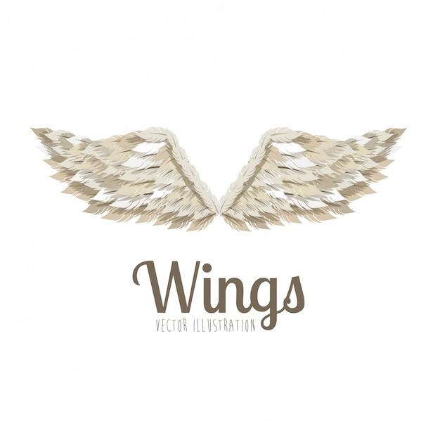 Diseño de alas Vector Premium