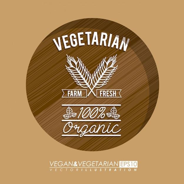 Diseño de alimentos, ilustración vectorial Vector Premium