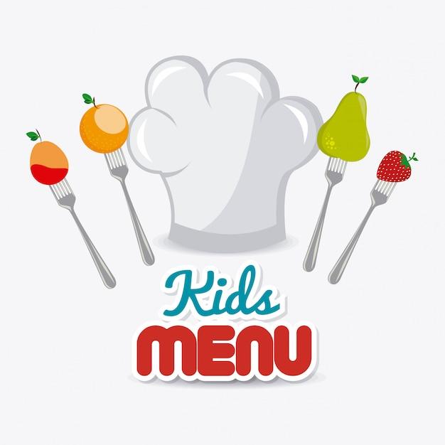 Diseño de alimentos para niños. Vector Premium