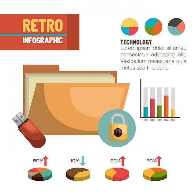 Diseño de almacenamiento de datos vector gratuito