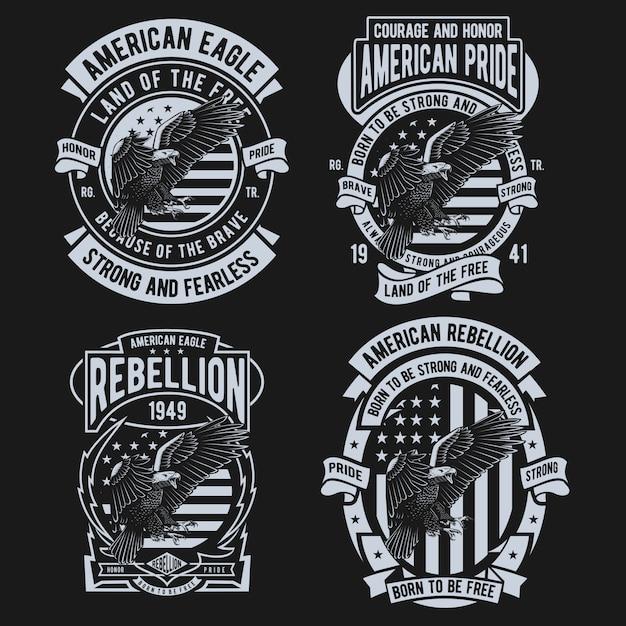 Diseño de american eagle Vector Premium