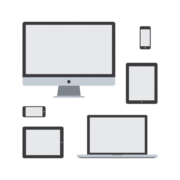 Diseño de aparatos tecnológicos vector gratuito