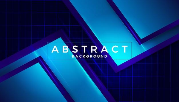 Diseño azul vidrioso elegante abstracto del fondo Vector Premium