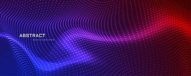 Diseño de banner abstracto partículas coloful vector gratuito