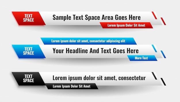 Diseño de banner con estilo moderno abstracto inferior inferior vector gratuito