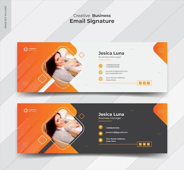Diseño de banner de firma de correo electrónico empresarial Vector Premium