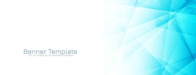 Diseño de banner geométrico azul abstracto vector gratuito