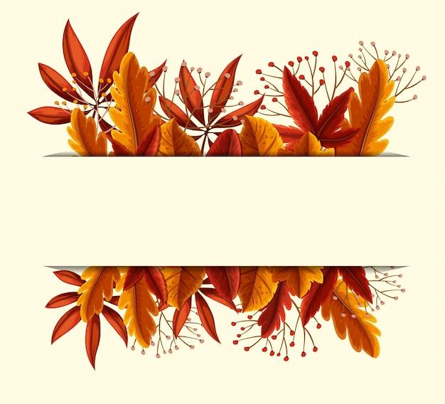 Diseño de banner con hojas de naranja y flores | Descargar Vectores ...