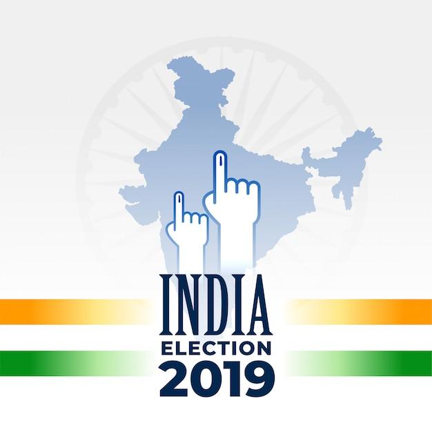 Diseño de banner indio elección 2019 vector gratuito