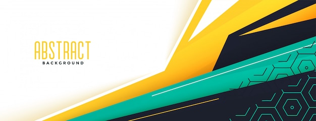 Diseño de banner moderno de estilo geométrico abstracto de memphis vector gratuito