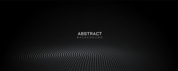 Diseño de banner piso de partículas negras vector gratuito