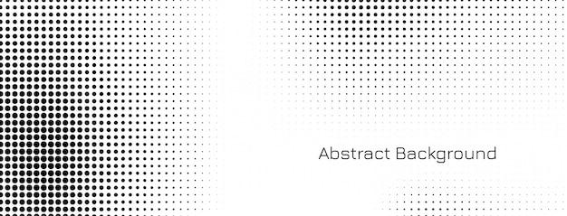 Diseño de banner de semitono abstracto vector gratuito