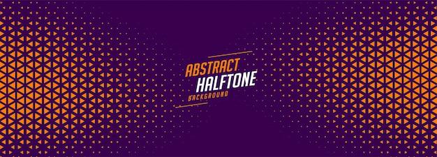 Diseño de banner de semitono púrpura y naranja abstracto vector gratuito