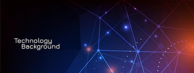 Diseño de banner de tecnología científica digital vector gratuito