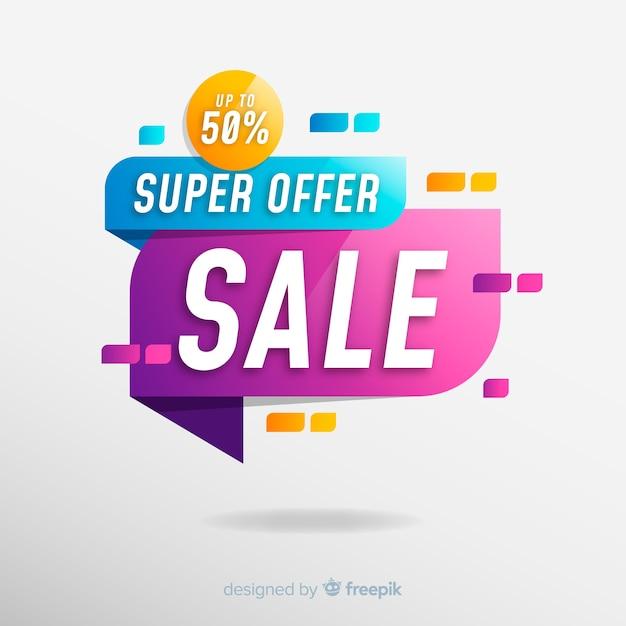 Diseño de banner de ventas abstracto vector gratuito