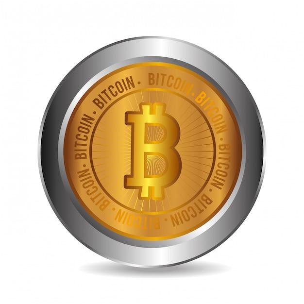 Diseño de bitcoins. vector gratuito