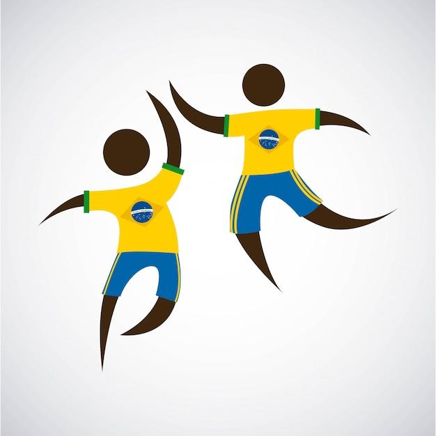 Diseño de brasil sobre fondo blanco ilustración vectorial Vector Premium