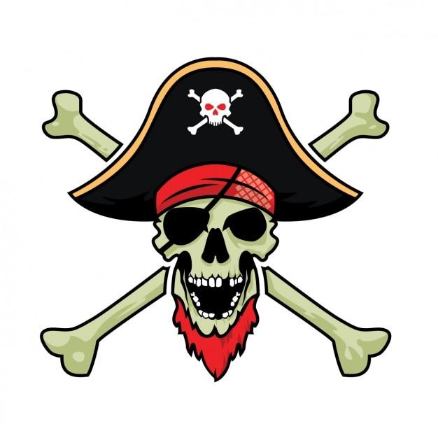 Diseño De Calavera Pirata Descargar Vectores Gratis