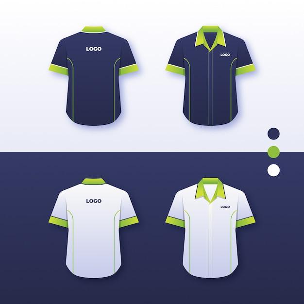 Diseño de la camisa uniforme de la empresa Vector Premium