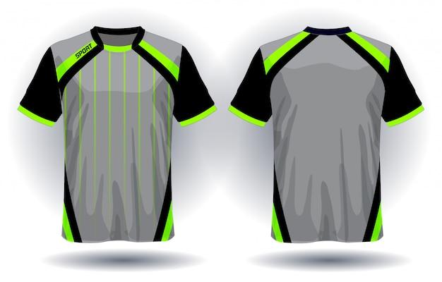 Diseño de camiseta deportiva de jersey de fútbol. Vector Premium