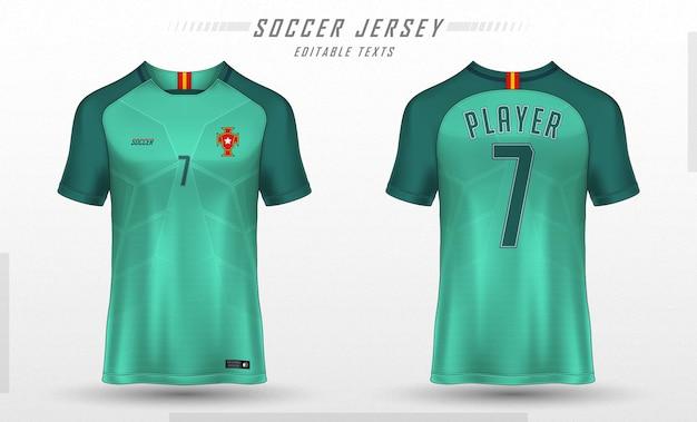 Diseño de camiseta deportiva de plantilla de camiseta de fútbol vector gratuito