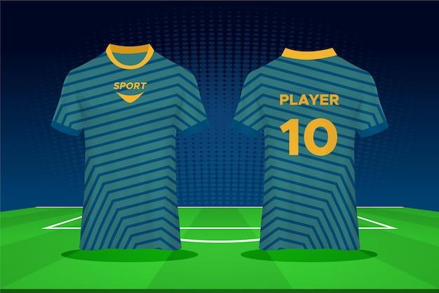 Diseño de camiseta de fútbol Vector Premium