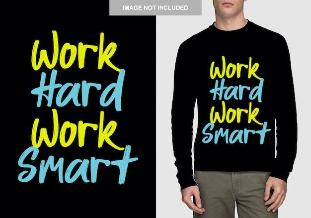 Diseño de camiseta de letras. tipografía dibujada a mano Vector Premium