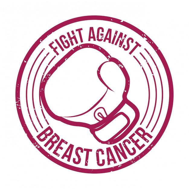 Diseño de cáncer de mama, ilustración vectorial. Vector Premium