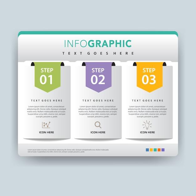 Diseño de carpeta infografía vector ilustración vector gratuito