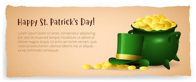 Diseño del cartel especial happy saint patricks day vector gratuito