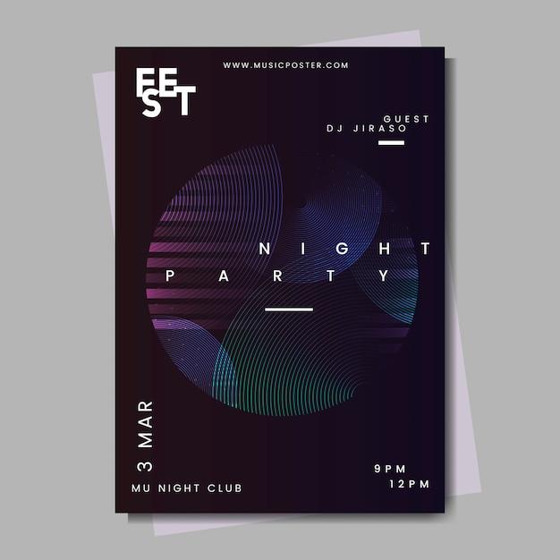 Diseño de cartel de evento vector gratuito