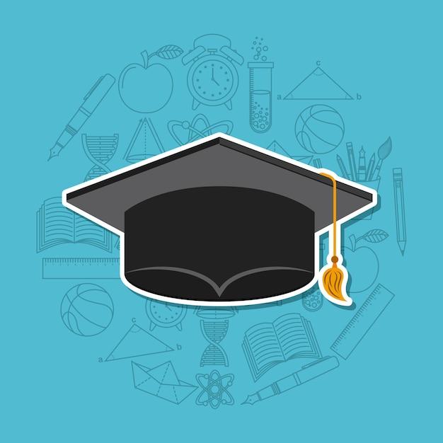 Diseño de celebración de graduación Vector Premium