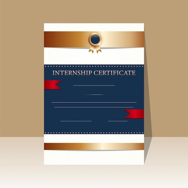 Diseño de certificado. Vector Premium