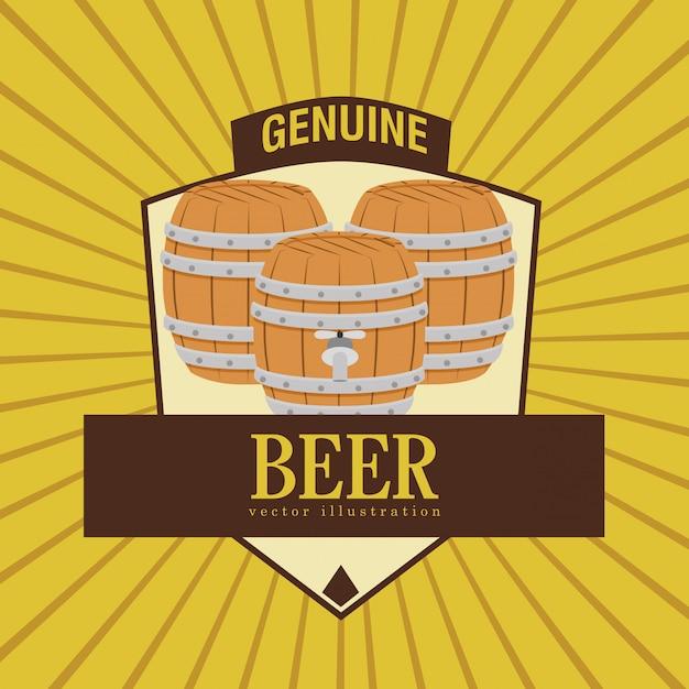 Diseño de cerveza Vector Premium