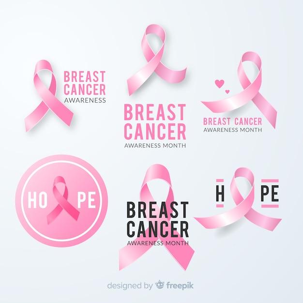 Diseño de cinta rosa para evento de cáncer de mama vector gratuito