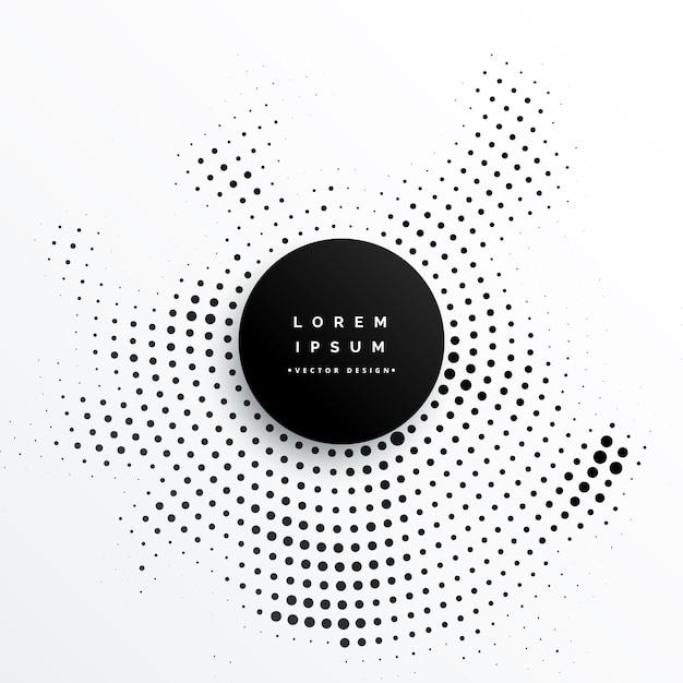 Diseño circular del fondo de los puntos de semitono Vector Gratis