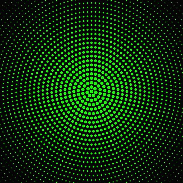 Diseño circular de semitono abstracto del fondo del punto Vector Premium