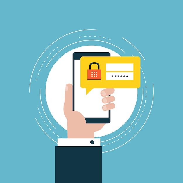 Diseño de código de seguridad vector gratuito