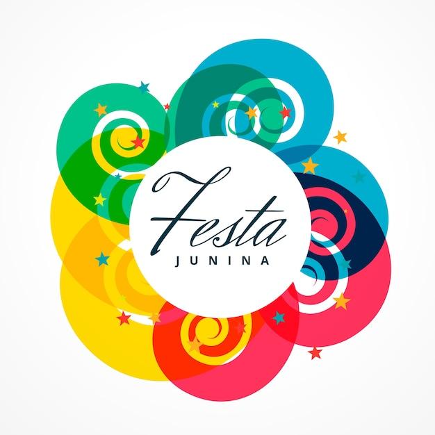 Diseño colorido redondo de festa junina vector gratuito