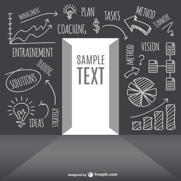 Diseño de concepto de estrategia de negocio vector gratuito